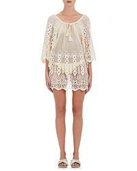 Eberjey - Gianna Mixed-crochet Cotton Cover - Lyst