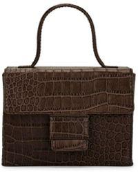 Steven Alan Meryl Crocodile-stamped Leather Box Bag