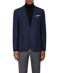 Barneys New York - Checked Wool-silk Two - Lyst