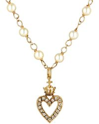 Devon Page Mccleary - Open Heart Charm Necklace - Lyst