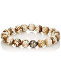 Devon Page Mccleary - Ohm Beaded Bracelet - Lyst