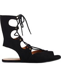 Chloé Lace-up Gladiator Sandals