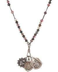 Miracle Icons - Rosary-inspired Charm Necklace - Lyst