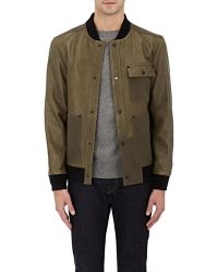 T By Alexander Wang - Leather & Cotton Bomber Jacket - Lyst