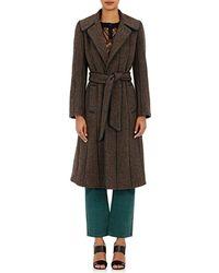 Maison Mayle - Tweed & Leather Coat - Lyst