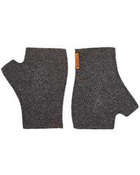 Barena - Compact Rib-knit Wool-blend Fingerless Mittens - Lyst