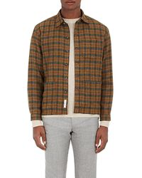 Brooklyn Tailors - Checked Lambswool Shirt Jacket - Lyst