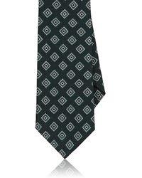 Eidos - Diamond Medallion Wool Necktie - Lyst