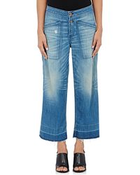 NSF - Quarry Denim Culotte Trousers - Lyst