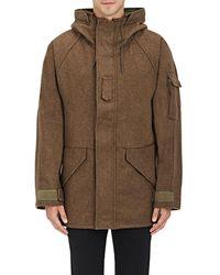 NLST - Wool-blend Hooded Parka - Lyst