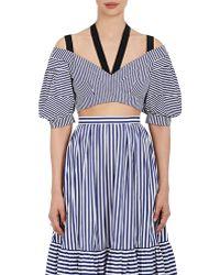 Erdem - Debra Striped Cotton Crop Top - Lyst