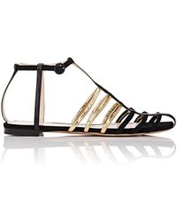 Nina Ricci - Suede & Leather Strappy Sandals - Lyst