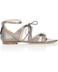 Chloe Gosselin - Cardinalis Metallic Leather Sandals - Lyst