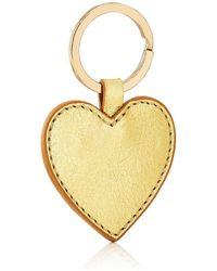 Barneys New York - Leather Heart Key Chain - Lyst