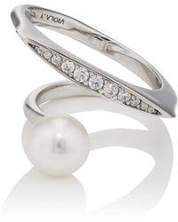 VIOLA.Y JEWELRY - Imitation-pearl & Cubic Zirconia Ring - Lyst