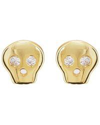 Katie Diamond - Skull Stud Earrings - Lyst