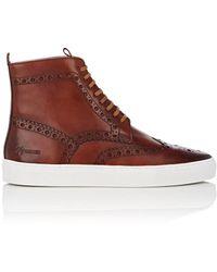 Grenson - Leather Wingtip Sneakers - Lyst