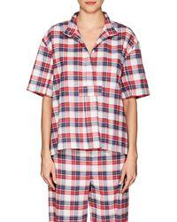 The Sleep Shirt - Plaid Cotton Flannel Pyjama Top - Lyst