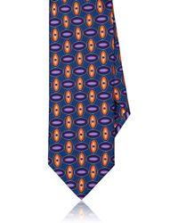 Dolcepunta - Oval-pattern Silk Satin Necktie - Lyst