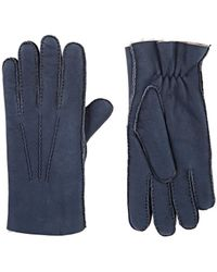 Barneys New York - Pick-stitched Shearling Gloves - Lyst