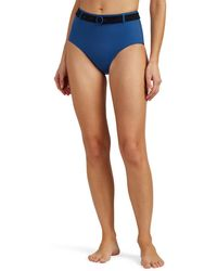 Solid & Striped - Quinn Belted High-rise Bikini Bottom - Lyst