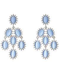 Kenneth Jay Lane   Cabochon & Crystal Chandelier Earrings   Lyst