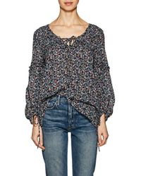 10 Crosby Derek Lam - Floral Cotton Cady Swing Blouse - Lyst