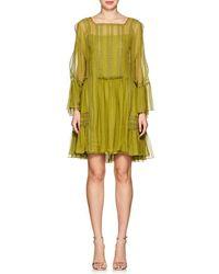 Alberta Ferretti - Silk Chiffon Tie-shoulder Minidress - Lyst