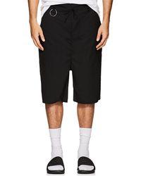 Chapter Stretch-wool Drawstring Shorts - Black