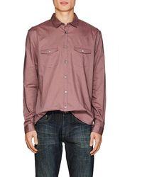 John Varvatos | Cotton Voile Shirt | Lyst
