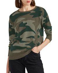 Barneys New York - Camouflage Cashmere Jumper - Lyst