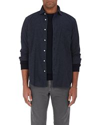 Hartford - Pinpoint Cotton Flannel Button - Lyst