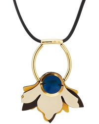 Marni - Flower Pendant Necklace - Lyst