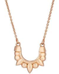 Pamela Love - Mini Spike Pendant Necklace - Lyst