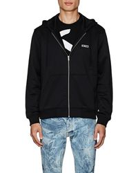 KENZO Studded-dragon Cotton-blend Terry Hoodie
