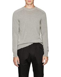 Tomas Maier - Distressed Cotton Sweater - Lyst