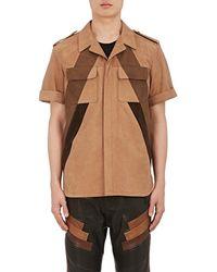 Neil Barrett - Nubuck Oversized Shirt - Lyst