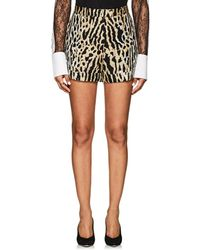 Valentino - Leopard Jacquard Shorts Size 44 - Lyst