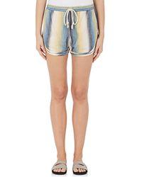 Warm - Striped Cotton Running Shorts - Lyst