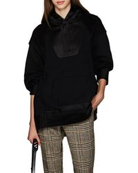Undercover - Satin & Sherpa-trimmed Jersey Hoodie - Lyst