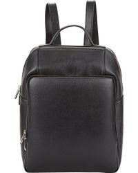 Barneys New York - Saffiano Backpack-Black - Lyst