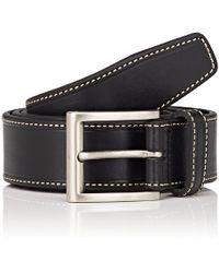 Barneys New York - Smooth Leather Belt - Lyst