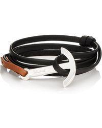 Miansai | Modern Anchor On Leather Wrap Bracelet | Lyst