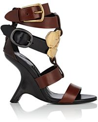 Tom Ford - Sculpted-heel Leather Sandals - Lyst