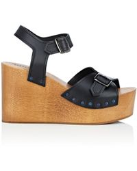 Barneys New York Leather Platform-wedge Sandals