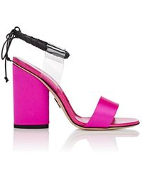 Paul Andrew - Estes Pvc & Satin Sandals - Lyst