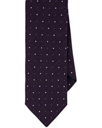 Barneys New York - Dot-print Silk Necktie - Lyst