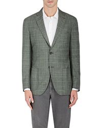 Luciano Barbera - Plaid Wool-blend Two - Lyst