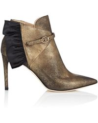 Repetto - Metallic Leather Ankle Boots - Lyst
