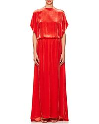 Valentino - Cutout-back Velvet Gown - Lyst